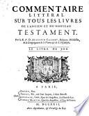 Commentaire littéral sur tous les livres de l'ancien et du nouveau testament: Le Livre de Job (1722)