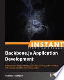 Instant Backbone js Application Development