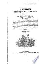illustration Archives historiques et littéraire du Nord de la France, et de Midi de la Belgique