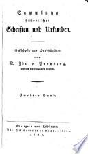 Sammlung historischer Schriften und Urkunden