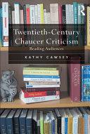download ebook twentieth-century chaucer criticism pdf epub