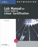 Lab Manual for Linux  Guide to Linux Certification