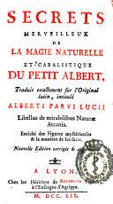 Book Secrets merveilleux de la magie naturelle et cabalistique du Petit Albert