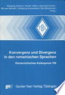 Konvergenz und Divergenz in den romanischen Sprachen