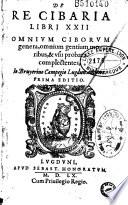De re cibaria libri XXII