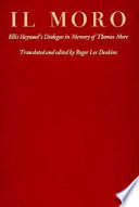 Il Moro; Ellis Heywood's Dialogue in Memory of Thomas More