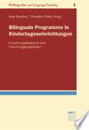 Bilinguale Programme in Kindertageseinrichtungen