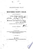 Shakespeare's Play of A Midsummer Night's Dream