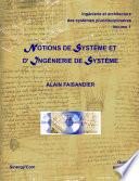 illustration du livre Notions de système et d'ingénierie de système