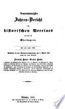 Jahresbericht des Historischen Vereins von Oberbayern