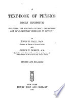A Text-book of Physics, Largely Experimental, Including the Harvard College