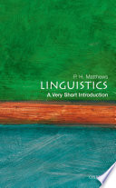 Linguistics  A Very Short Introduction