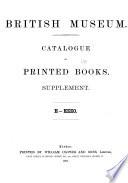 British Museum Catalogue of Printed Books