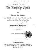 Die Nachfolge Christi von Thomas von Kempis