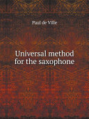 Universal method for the saxophone