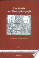 Alte Musik und Musikpädagogik