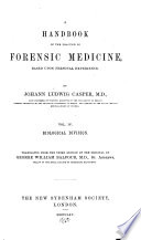 A Handbook of the Practice of Forensic Medicine: Biological division