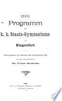 Beiträge zur Geschichte der Pest in Kärnten im Jahre 1716