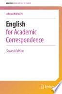 English for Academic Correspondence