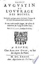 De l'ouvrage des moines