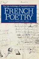 illustration The Yale Anthology of Twentieth-Century French Poetry