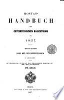 Montan-Handbuch des österreichischen Kaiserthums