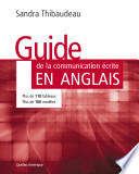 Guide de la communication   crite en anglais