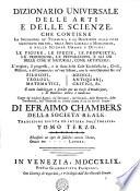 DIZIONARIO UNIVERSALE DELLE ARTI E DELLE SCIENZE