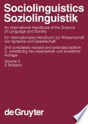 Sociolinguistics   Soziolinguistik