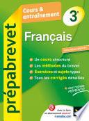 Français 3e - Prépabrevet Cours & entraînement
