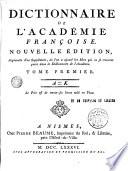 Dictionnaire de l'Académie Française, 1