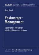 Postmerger-Management