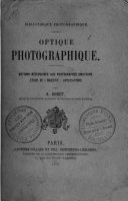 Book Optique photographique