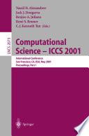 Computational Science — ICCS 2001