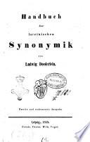 Handbuch der lateinischen Synonymik von Ludwig Doederlein