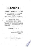 Elementi de chimica farmaceutica e d istoria naturale