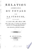 Relation abrégé du voyage de La Pérouse