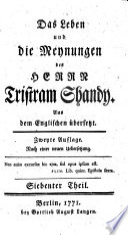 Das Leben und Die Meynungen Des Herrn Tristram Shandy