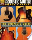 Acoustic Guitar Owner S Manual