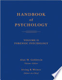 Handbook Of Psychology Forensic Psychology