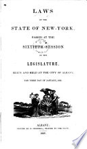 Laws of the State of New York Passed at the Sessions of the Legislature Book PDF
