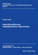 Internationalisierung mittelständischer Unternehmen