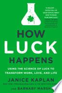 How Luck Happens Book PDF