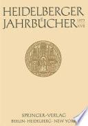 Heidelberger Jahrbücher XVII