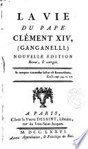 La Vie du Pape Clémente XIV (Ganganelli)