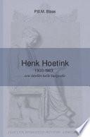 Henk Hoetink (1900-1963)