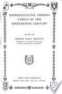 Representative French Lyrics of the Nineteenth Century