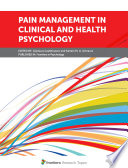 Pain Management In Clinical And Health Psychology