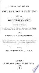 A Short And Connected Course Of Reading From The Old Testament By H N Beaver