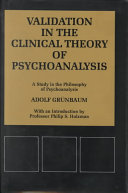 Validation in the Clinical Theory of Psychoanalysis